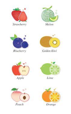과일 일러스트 Fruit Illustration, Food Illustrations, Graphic Design Illustration, Fruits Drawing, Food Drawing, Fruit Packaging, Packaging Design, Icon Design, Logo Design