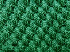 Broken Diagonal Rib |  Knit & Purl Stitch Combinations - written instructions and video