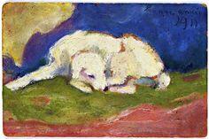 Franz Marc | 'Russi' Lying, 1910-1911