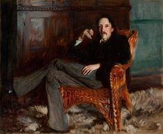 "John Singer Sargent, ""Robert Louis Stevenson,"" 1887. Copyright: Courtesy of the Taft Museum of Art, Cincinnati, Ohio"