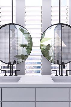 Urban contemporary bathroom | bocadolobo.com/ #contemporarydesign #contemporarydecor