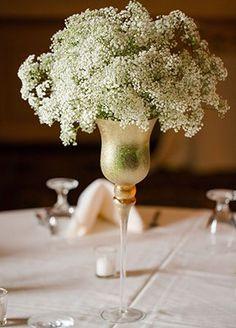 Baby's Breath Wedding Decor | blog.theknot.com