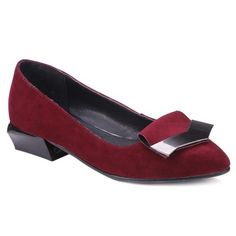GET $50 NOW | Join RoseGal: Get YOUR $50 NOW!http://www.rosegal.com/flats/metal-pointed-toe-suede-flat-970085.html?seid=8047480rg970085