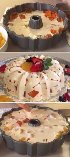 Желейный праздник на скорую руку! И конечно же низкокалорийный! Cold Desserts, Summer Desserts, Cookie Desserts, Delicious Desserts, Pie Recipes, Cooking Recipes, Nice Cream, No Bake Treats, Calories