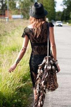 CROCHET!!! #crochet #gypsy #black