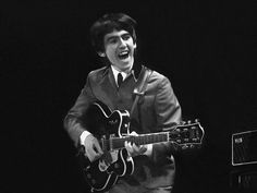 Reason I always preferred George Harrison over the other Beatles #229: He had the coolest moves of all of them with his silly dance steps and boyish grins. He seemed to be having the most fun on stage at all times. Besides, he took all the guitar solos in those early days :D