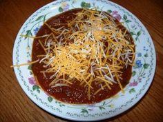 FringeMan's Hillbilly Hellfire Venison Chili Venison Chili, Deer Meat, Hillbilly, Spaghetti, Soup, Ethnic Recipes, Venison, Soups, Noodle