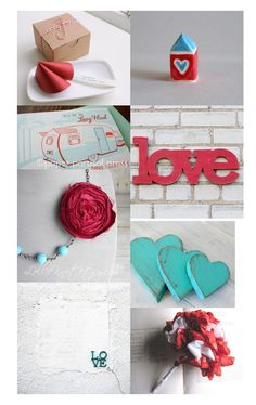 Quiltish by Allisa Jacobs: Valentines Finds in Red and Aqua