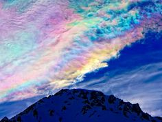 """ICEBOW.  """"Ice crystals at 16,000ft, Las Lenas, Argentina""""  by Chris Huxley."""