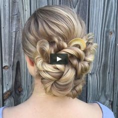 50 Glam Updo Styles For Wedding! - Makeup Tips , 50 Glam Updo Styles For Wedding! Do you wanna see more fab hairstyle ideas and tips for your wedding? Then, just visit our web site babe! Updo Styles, Curly Hair Styles, Hair Upstyles, Hair Videos, Hair Trends, Braided Hairstyles, Teen Hairstyles, School Hairstyles, Natural Hairstyles