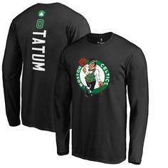 891e12a0633 Jayson Tatum Boston Celtics Fanatics Branded Team Backer Name   Number Long  Sleeve T-Shirt – Black