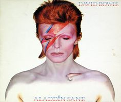 Great Vinyl on http://www.vinylrecords.ch this is album cover photo of DAVID BOWIE - Aladdin Sane UK