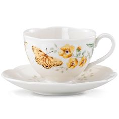 Butterfly Meadow® Fritillary Cup & Saucer by Lenox
