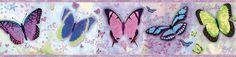 "Borders by Chesapeake Kingston BFF Toss 15' x 8"" Butterflies Border Wallpaper"