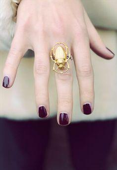 Scarab Beetle Ring £10 - I love mine!