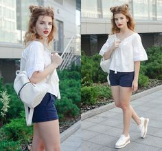 Back 2 School Dress Up, Dress Shoes, White Beige, Blouse, Outfits, Sneakers, Tennis, Suits, Slippers