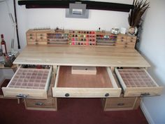 A great design for a fly tying desk