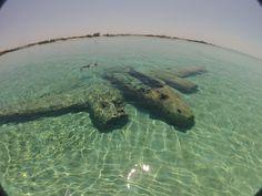 Sunken Plane at Staniel Cay