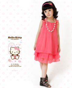 2015 New Girls Cute A-Line Dress 3 Color Bow Pearl Ruffles Sleeveless Lace  Chiffon Dress Baby Girl Children Clothes Summer Style 724f4aa0cd49