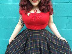 Junebugs and Georgia Peaches: The Adventures of Modern June Cleaver + Amelia Jetson: Seashell Dresses + Tartan Skirts