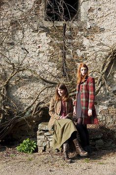 country style, autumn, english, fashion, tweed, wool, coat