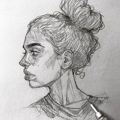 Face sketch perspective tips - 2019 art sketches, drawings 및 Sketchbook Drawings, Pencil Art Drawings, Easy Drawings, Drawing Sketches, Drawing Drawing, Profile Drawing, Drawing Ideas, Sketches Of Faces, Sketching