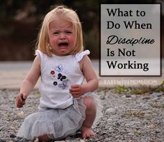 Chronicles of a Babywise Mom: What to Do When Discipline is Not Working