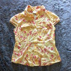 Liz Claiborne Shirt  Button down cap sleeve shirt. Looks like new. Liz Claiborne Tops