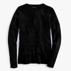 J.Crew - Collection cashmere long-sleeve T-shirt-hthr grey