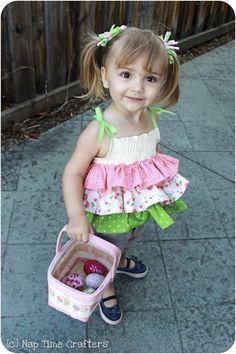 Cute Dress - step by step Photo tutorial - Bildanleitung - Одежда для детей своими руками. Топ