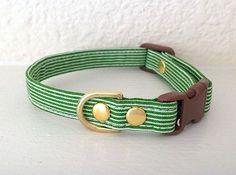 Pinned onto Cat Collar Board in Cat Accessories Category Cat Accessories, Pet Tags, Cat Collars, Christmas Cats, Green Stripes, Cute Animals, Pets, Medium, Jasper