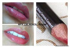 NYX lip pencil in Plush http://www.wiseshe.com/2013/07/nyx-slim-lip-pencil-plush-red-review-swatches.html