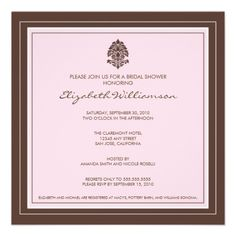 Simple Frame Bridal Shower Invitation (baby pink) #weddings #pinkbridalshower #pinkcolorscheme