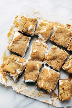S'Mores Bars - chocolate, marshmallow, and peanut butter sandwiched between two layers of soft graham cookie crust. these are SO, SO GOOD. sponsored by @landolakesktchn   pinchofyum.com