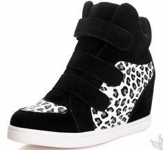 High Tops Increased Leopard Sneakers