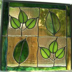 hojas falso vitraux