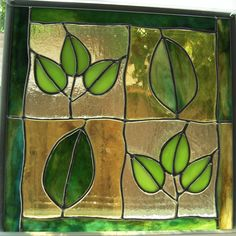 Stained glass leaves