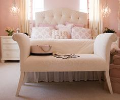 I like the matching bench at the end of the bed.