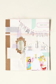 Lisa says: lovely layout for a scrapbooking page, nice and clean!   journal