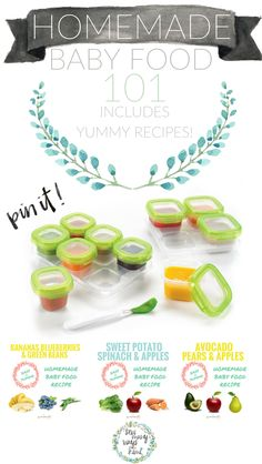 No need to buy a $200 baby food maker! Great for beginners/newbies! Just use your blender and crockpot! Includes super easy and yummy homemade baby food recipes. Store, make and feed.