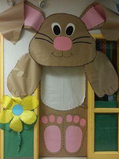 Easter/Spring classroom door.