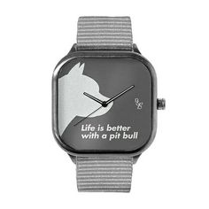 Show your pit bull pride and support #pitbullawarenessmonth! Our NEW watches are available on our site. nairandbjorn.com. SAVE 30% when you order now. Square Watch, Pit Bull, Life Is Good, Pride, Good Things, Watches, Accessories, Wristwatches, Pitbull