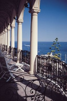 View of the Port from the Hotel Hermitage in Monaco