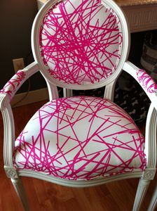 "neon pink chair. it would never ""go"" with anything in my house but i'd still love to have it :D"