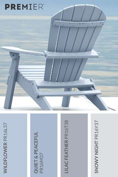Relaxing, peaceful beach palette #PaintWithPREMIER Kitchen Paint Colours, Cottage Paint Colors, House Colors, Room Colors, Coastal Paint Colors, Coastal Color Palettes, Colour Palettes, Coastal Decor, Relaxing Colors
