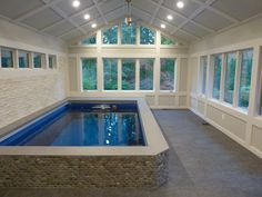 Indoor Swimming Pool Ideas for Your Luxury Home. Swimming can be regarded as one of the fun sport. Especially if you have your own pool. Yes, for some people the presence of a swimming pool can incre. Children Swimming Pool, Swimming Pool House, Luxury Swimming Pools, My Pool, Indoor Swimming Pools, Swimming Pool Designs, Lap Swimming, Pool Backyard, Lap Pools