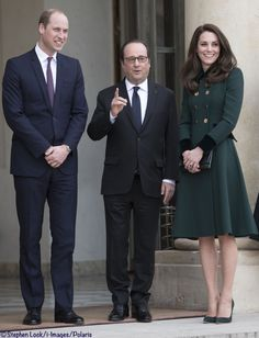 The Duke and Duchess with French President Francois Hollande, March 17, 2017 ©Stephen Lock / i-Images / Polaris