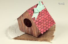 FREE printable paper bird house (with tutorial)
