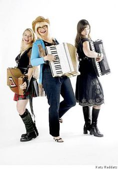 Participating in the Wild Women of the Accordion festival are (From Left to Right) Renee de la PradeBig Lou, Isabel Douglass Photo: Katy Raddatz