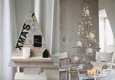12 inspirations pour un sapin de Noël en bois